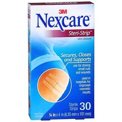 Nexcare Steri-Strip Skin Closure Strips 1/4 Inch X 4 Inches 30 Each