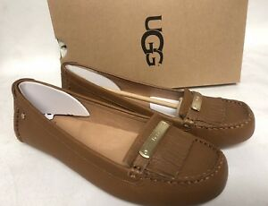 71f7ffdbcf1 Details about UGG Australia Royce Chestnut Driving Moccasin Moc Leather  Flats Oxfords 1017293
