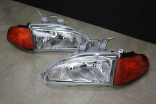 Honda Civic EG EJ JDM Chrome Headlights + Amber Corners +SiR City Light SI EX HB
