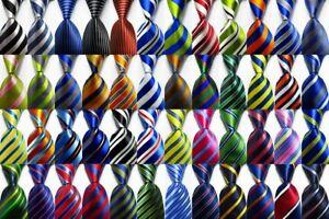 New-Classic-Ties-Striped-JACQUARD-WOVEN-100-Silk-Men-039-s-Tie-Necktie