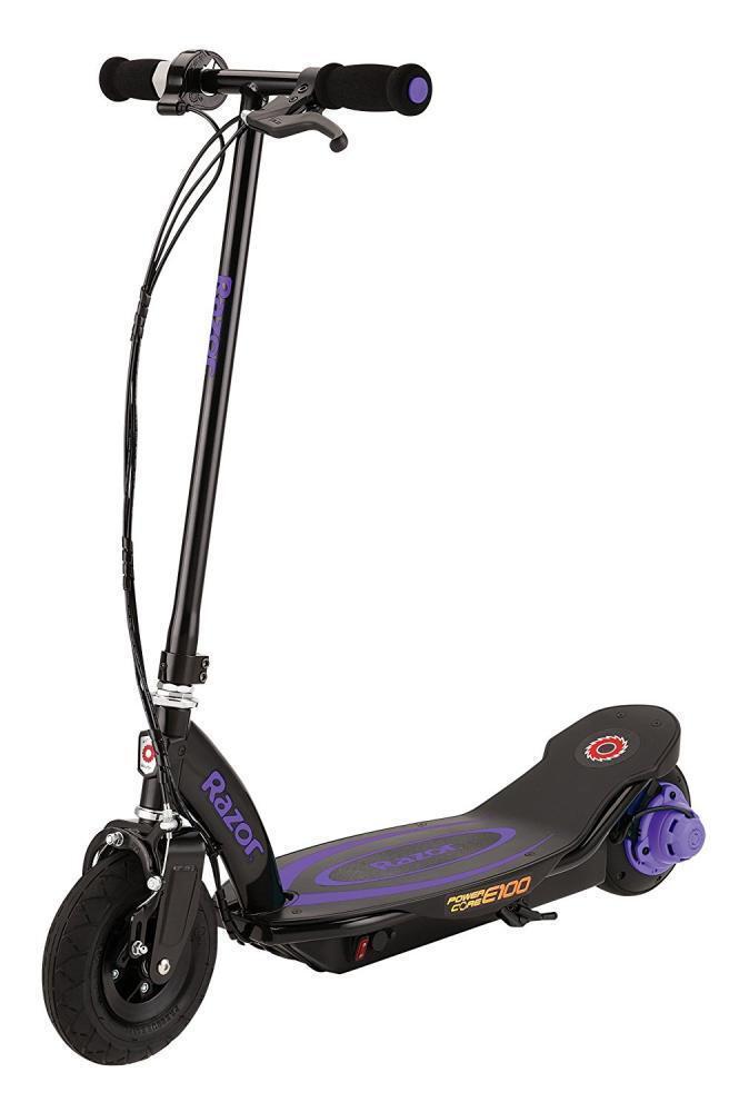 New Razor Kid's E100P Powercore Electric Scooter High Torque Motor 24V Purple