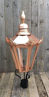 Large hexagonal Copper Lantern Street light lanterin in real copper