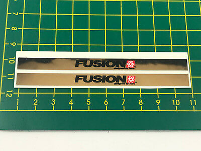 old school bmx decals stickers fusion pegs chrome black white red pair