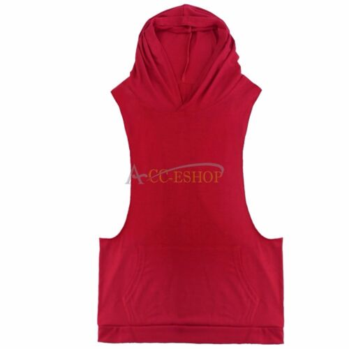 Men/'s Sport Workout Vest Tank Top bodybuilding gym muscle fitness football shirt