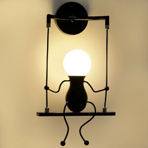Details About Indoor Led Wall Light Lamps Fixture Creative Little People Sconce Lighting