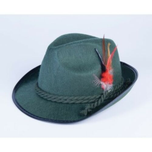 Oktoberfest German Alpine Hat Fedora Bavarian Adult Lederhosen Costume Green