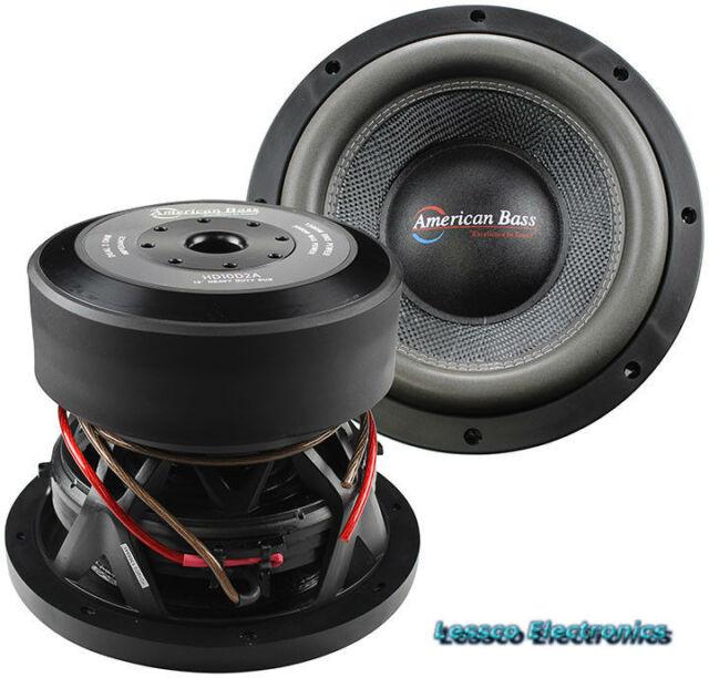 American Bass XR-12D2 12 2,400 Watts Max Power Dual 2 Ohm Car Subwoofer