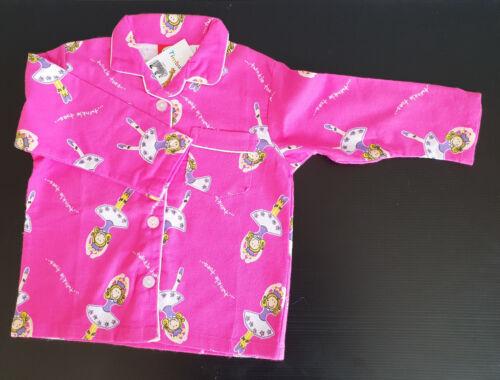BNWT Girls Sz 2 Cute Pink Ballerina Long Style Flannel Winter Style PJ Pyjamas