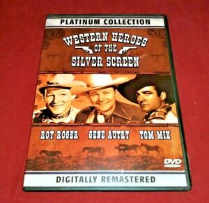 Western-Heroes-Of-The-Silver-Screen-DVD-Roy-Rogers-Gene-Autry-Hopalong-Cassidy
