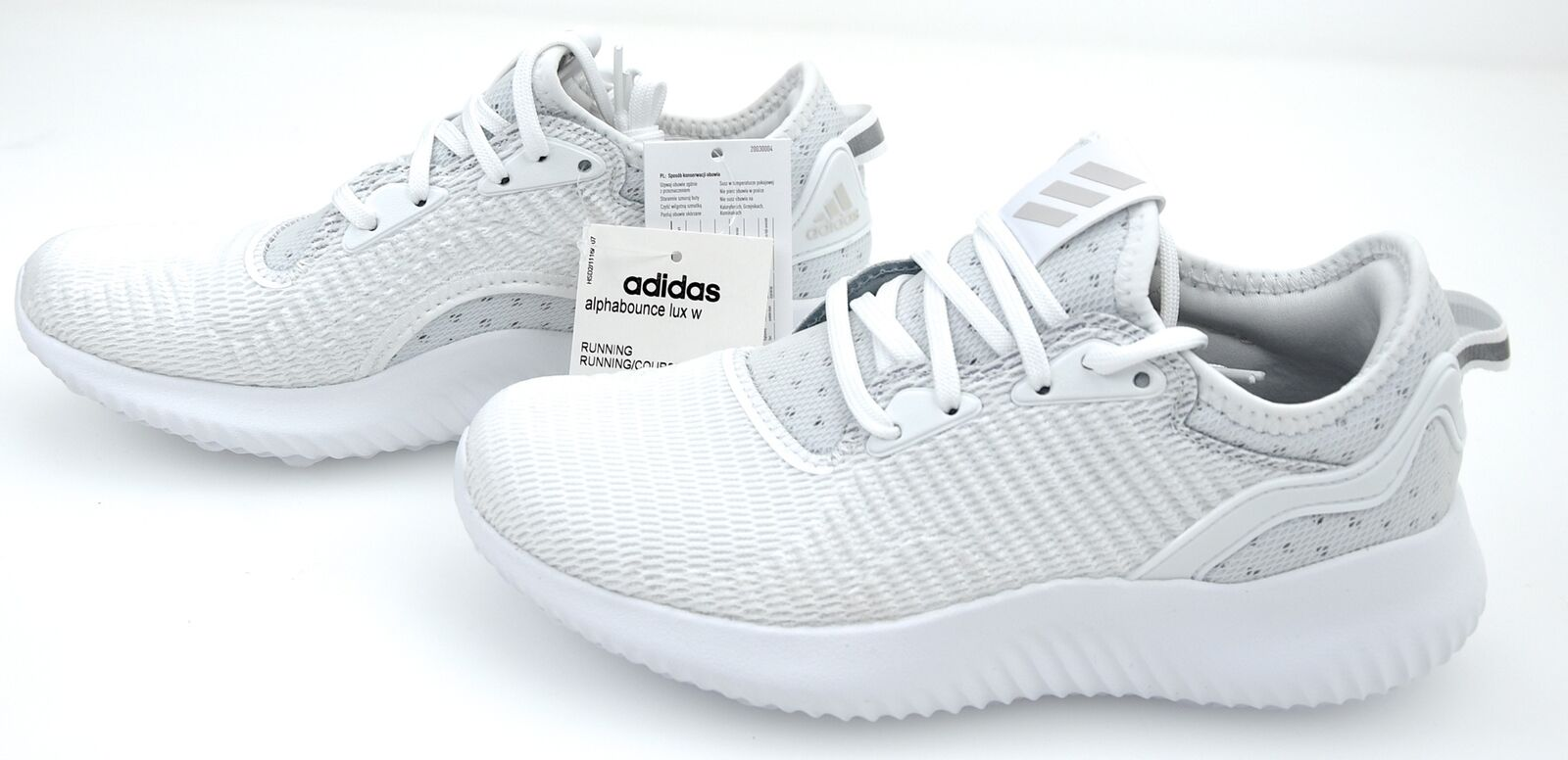 24eace78e68b2 adidas Alphabounce Lux W Triple White Women Running Shoes Sneaker Trainer  BW1217 UK 6 for sale online