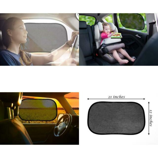 4 Pack Sun - 21x14 Cling Sunshade for Car Windows Baby Side Window Car Sun Shades Glare and UV Rays Protection for Your Child Enovoe Car Window Shade -
