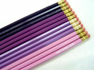 24 hexagon shades of purple personalized pencils ebay