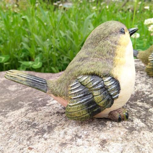 Outdoor Garden Decoration Lawn Sculptural Little Bird Set Statue Ornament