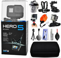 Gopro Hero5 Hero 5 Black With 5 Mounts, Stabilizer Grip, Case, Cleaning Kit