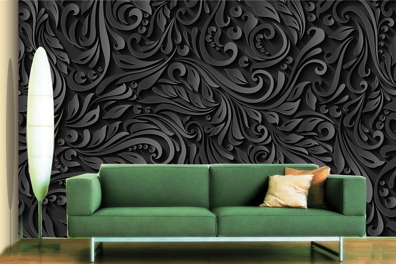 3D Schwarz Mode Muster 7 Tapete Wandgemälde Tapete Tapeten Bild Familie DE Lemon