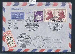 98847) Lh Ff Reco! Hambourg-vienne 1.4.76, Lettre Mif Kant-afficher Le Titre D'origine Bonne Conservation De La Chaleur