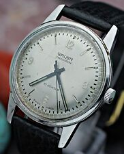 Vintage GRUEN Precision Cal. N510SS 17j Hand Wind Stainless Steel Dress Watch L7