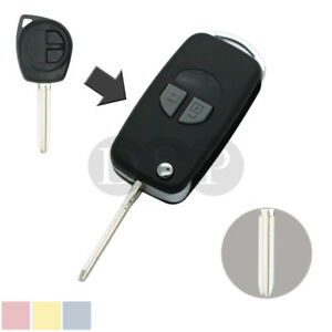 Branded Automotive Merchandise Flip Remote Key Case Shell Fit For Suzuki Grand Vitara Swift With Button Pad