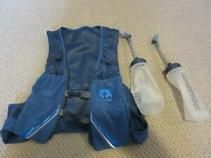 New-Mens-Nathan-VaporZach-Hydration-Pack-2-5L-Race-Vest-Running-Med-Navy