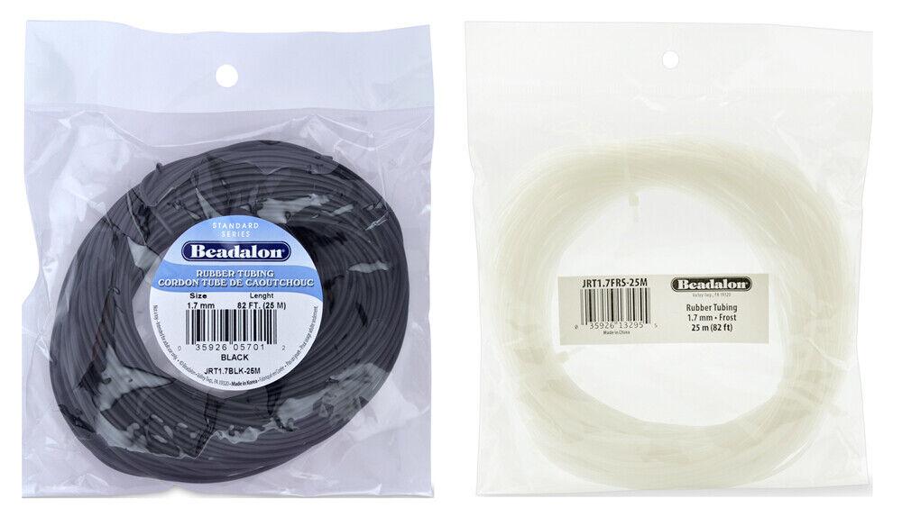 5-Meter Beadalon Rubber Tubing 4.0mm Black