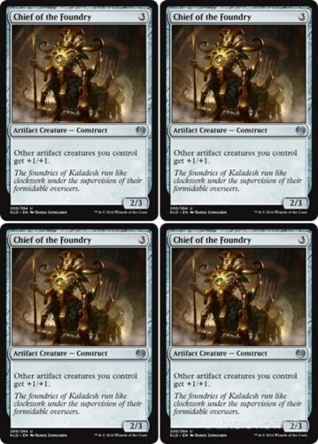 4x CHIEF OF THE FOUNDRY Kaladesh MTG Artifact Creature — Construct Unc