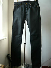 Very Cool Silm Fit Made in Italy VERSUS by Versace black waxed feel jeans Sz 26