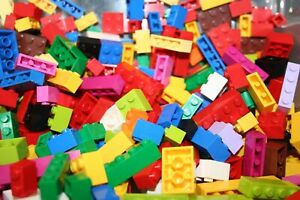 Lego-200-Basic-Steine-gut-gemischt-nur-HOHE-Steine-versch-Farben-u-Gr