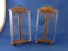 ancienne paire de cadres porte photo en bronze doré style Louis XVI  poser XIXe