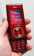 LG Chocolate VX8550 Verizon Wireless DARK RED Cell Phone vx-8550 slider V-Cast C