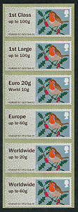 NCR-TYPE-IIA-MA12-ROBIN-ROBINS-COLLECTOR-STRIP-6-incl-EURO20g-WORLD10g-POST-amp-GO