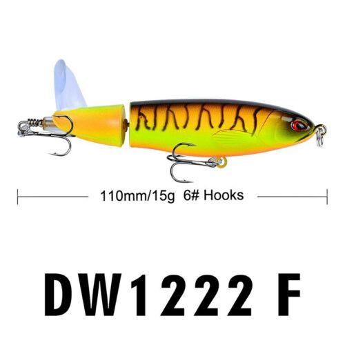 Whopper Popper 11cm 15g Fishing Lure Hard Bait Plopper Soft Rotating Tail Tackle