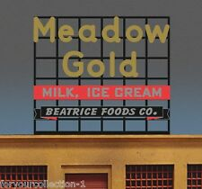 Miller's Meadow Gold Billboard Animated Neon Sign O/HO Scale MILLER ENGINEERING