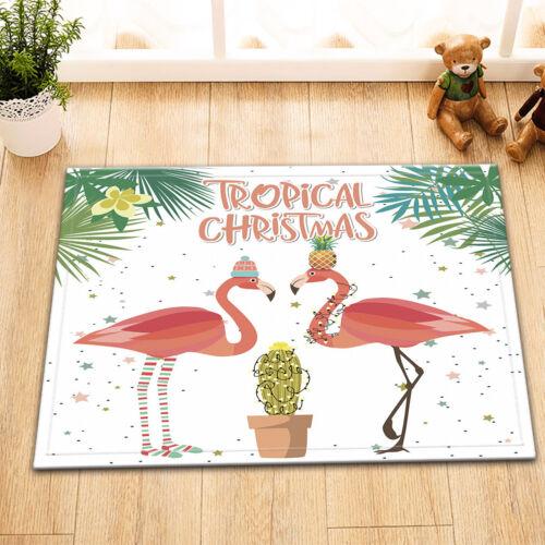 """Bathroom Set Fabric Shower Curtain Set Hooks 72/"""" Tropical Xmas Flamingo Cactus"""