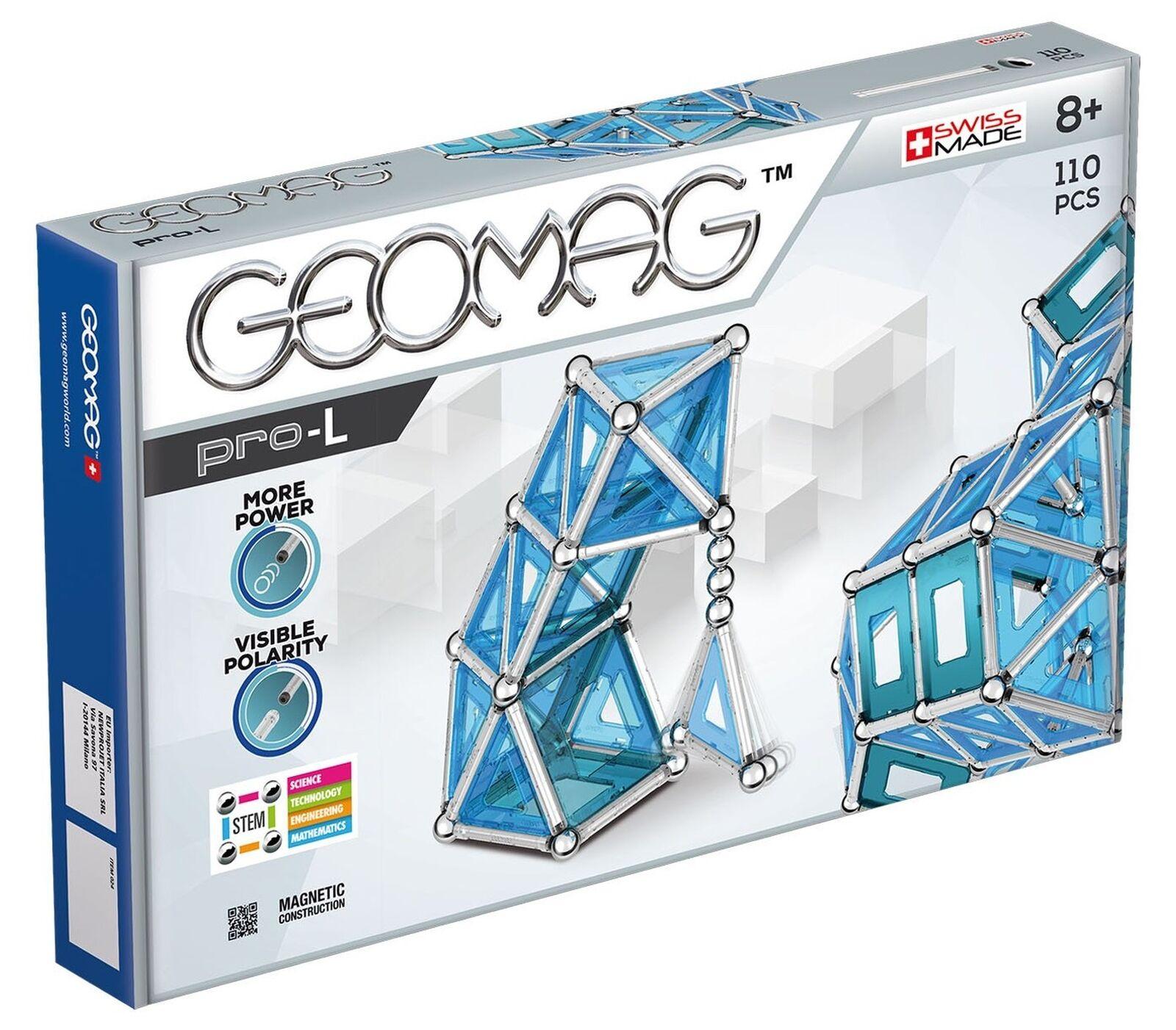 Geomag Pro-L Kit – 110 Piece Magnetic Construction Set 110 Piece Set