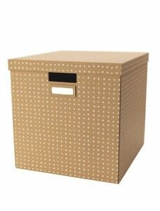 Image Is Loading Tjena Brown With Lid Ikea Storage Box