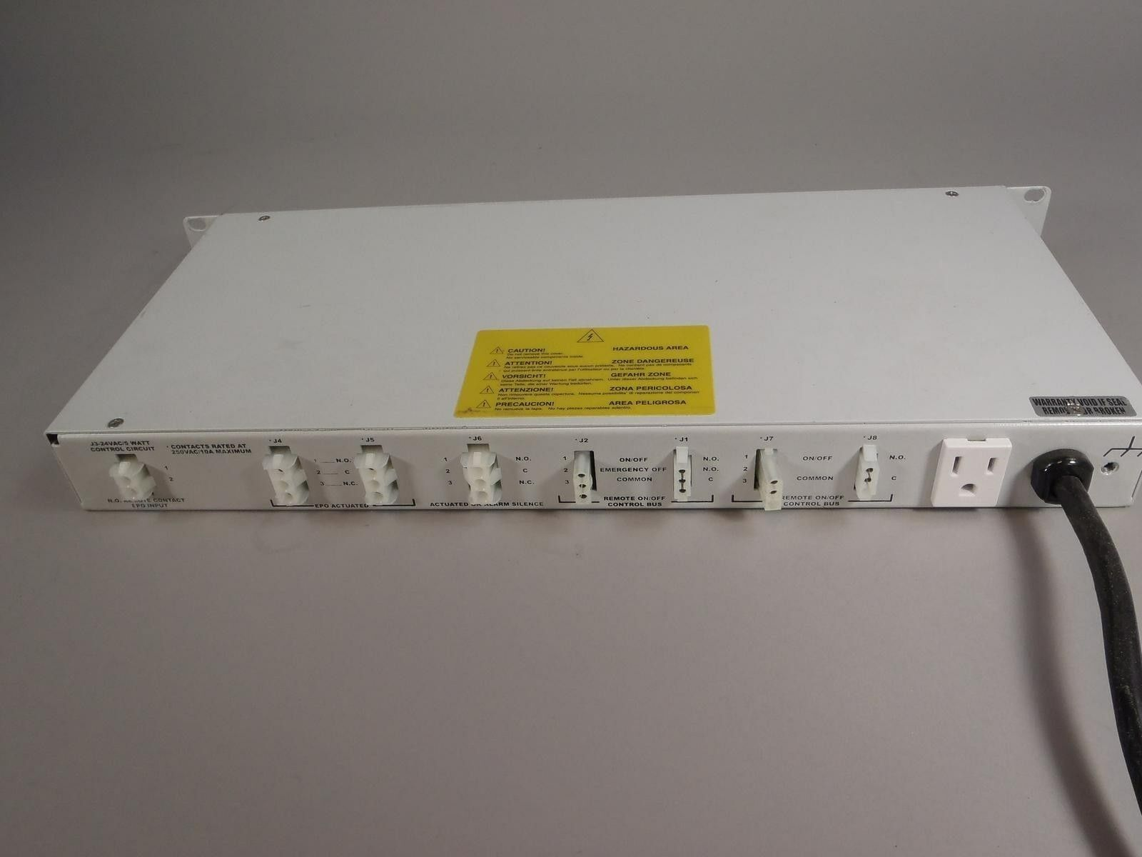 Marway Power Systems UCP 3500-001 Universal Control Panel Power Distribution