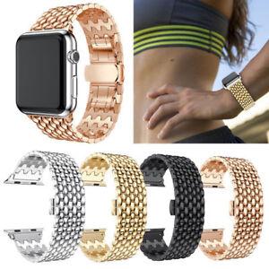 38mm-42mm-For-Apple-Watch-iWatch-Series-4-3-2-1-Metal-Strap-Link-Bracelet-Bands