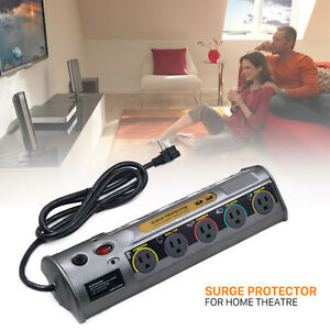 10 outlets surge protector power strip 2 usb charger 6 ft cord 6900 joules ebay. Black Bedroom Furniture Sets. Home Design Ideas