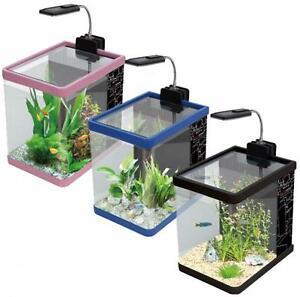 boyu nano aquarium fresh water fish tank 3 colours 12 litres led lighting ebay