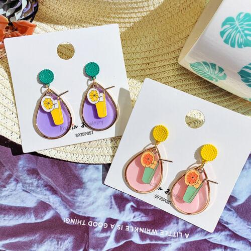 Personnalité Mode Sweet Femmes Boucle D/'oreille Cœur Acrylique eau Dangle Boucles d/'oreilles pendantes