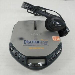 Sony Discman D-E301 ESP Mega Bass Portable Compact CD Player w Headphones MDR-24
