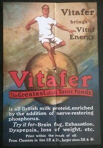 VITAFER-2-SIDED-ADVERTISING-POSTER-SEE-DESCRIPTION-FOR-DETAILS