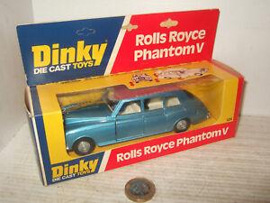 VINTAGE-RARE-DINKY-TOYS-124-Rolls-Royce-Phantom-V-in-ORIGINAL-DINKY-Box
