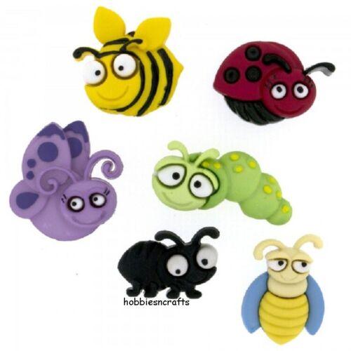 Dress It Up Botones 6551-insecto-Artesanía Pastel-Hacer Tarjetas-BUG EYED insectos