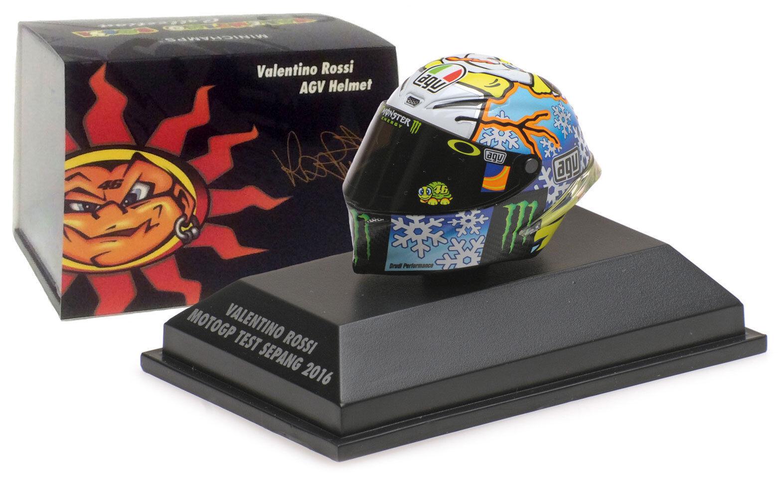 Minichamps Valentino Rossi Helmet MotoGP Test Sepang 2016 - 1 8 Scale