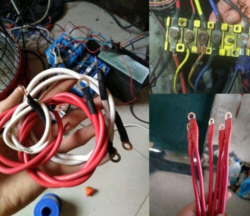 70 Pcs Car OT-10A-50A Open Barrel Copper Ring Lug Terminals Crimp Connector Kit