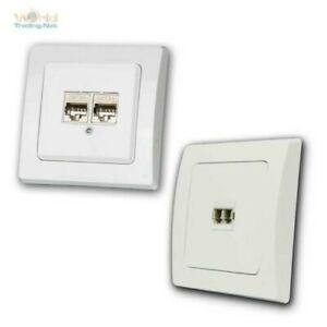 DELPHI-Netzwerkdosen-unterputz-weiss-RJ45-Lichtwellenleiter-LAN-DSL-Glasfaser