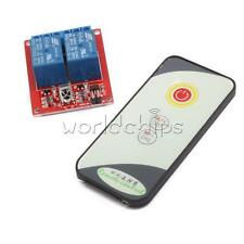12V 2 Channel  IR LED Relay Driver Module Infrared Remote Control + Receiver