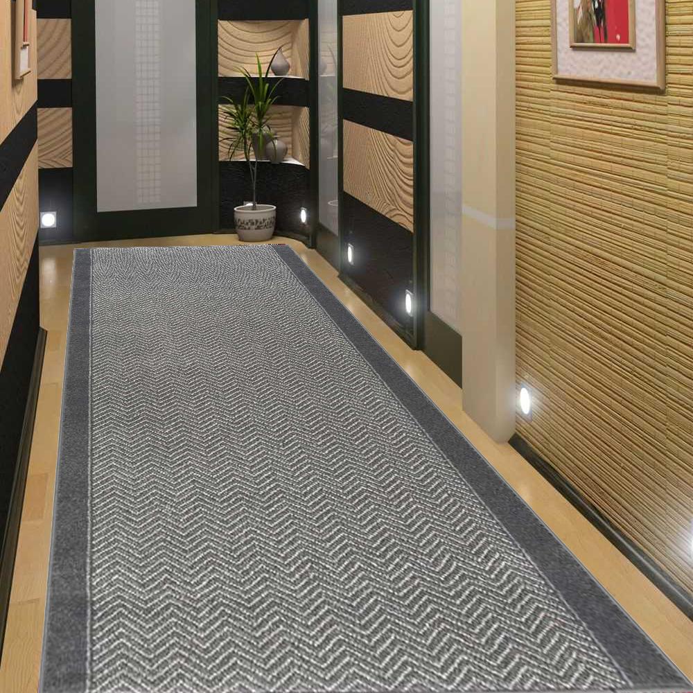 TAPPETO alfiere alfiere corridoio cucina alfiere Top Ottica 80 & 100 cm di larghezza Grigio Grafite