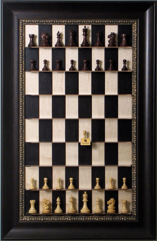 Straight Up Chess Board-noir Maple série avec Dark Bronze re